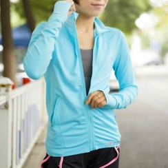 Morning Body - Plain Sports Zip Jacket