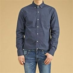 THE COVER - Pocket-Front Cotton Shirt