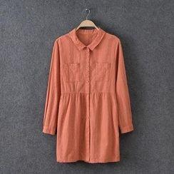 Rosadame - 圆孔眼蕾丝衬衫连衣裙
