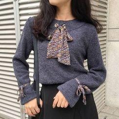 Dute - Tie Neck Sweater