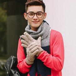 Thantrue - Fleece-Lining Jacquard Knit Gloves
