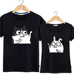 HEADON - Short-Sleeve Printed Couple T-Shirt