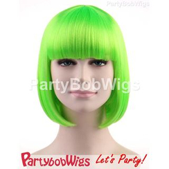 Party Wigs - PartyBobWigs - 派對BOB款短假髮 - 綠色