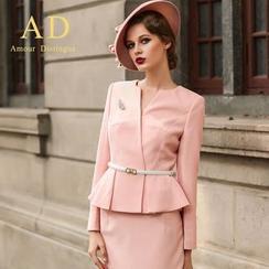 艾尚臣 - 套裝: 荷葉邊夾克 + 鉛筆裙/西褲