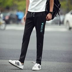 Chic Maison - Drawstring Sweatpants