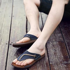 MARTUCCI - Genuine-Leather Flip-Flops