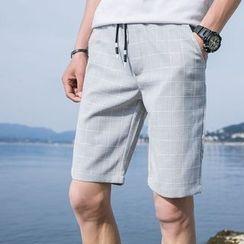 JVI - Check Drawstring Shorts