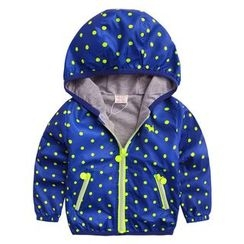 lalalove - Kids Polka Dot Hooded Jacket
