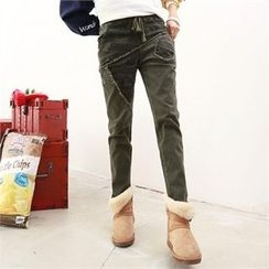 PIPPIN - Camouflage-Panel Baggy-Fit Pants