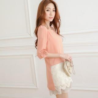 Tokyo Fashion - Lace-Hem Tunic
