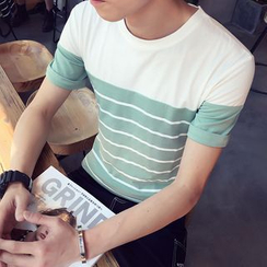 Alvicio - Striped Short Sleeve T-Shirt