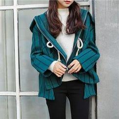 Everies - Woolen Striped Zip Jacket