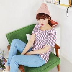 Cocopop - Short-Sleeve Stripe T-Shirt