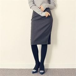 MAGJAY - Zip-Back Pencil Skirt