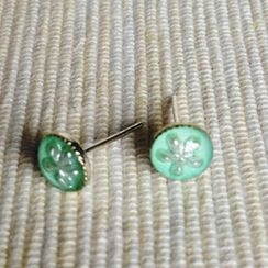 MyLittleThing - Resin Little Snowflake Earrings (Mint)