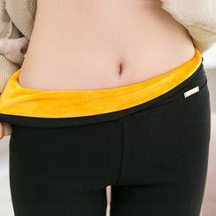 Meigo - 抓毛内衬窄身裤