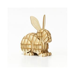 Team Green - Plywood Puzzle - Rabbit