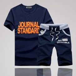 uninukoo - 套装: 字母短袖T恤 + 短裤
