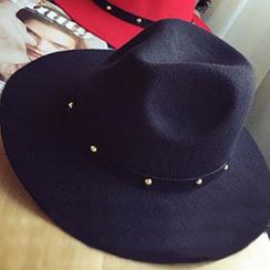 Hats 'n' Tales - Studded Woolen Fedora Hat