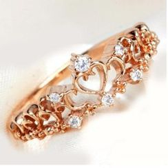 Nanazi Jewelry - Rhinestone Perforated Ring