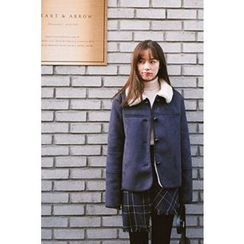 CHERRYKOKO - Button-Down Faux-Shearling Jacket