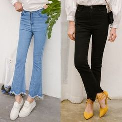 SUYISODA - Cropped Boot Cut Jeans