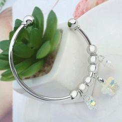 Mille - Swarovski Element Crystal Flower Bangle