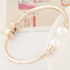 Bling Thing - Faux Pearl Open Bangle