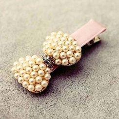 Suu - 仿珍珠蝴蝶结发夹