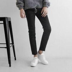 Seoul Homme - Distressed Fray-Hem Pants