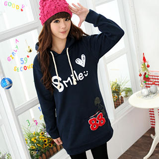 59 Seconds - 'Smile' Print Hooded Sweater Dress