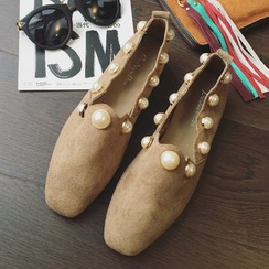 Super ME - Faux-Suede Beaded Loafers