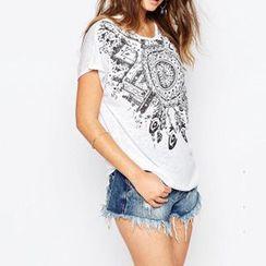 Richcoco - 短袖印花T恤