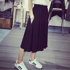 Windbird - 纯色七分裙裤