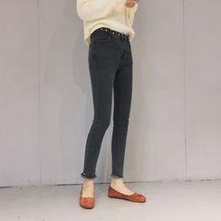 Ashlee - 散边窄身牛仔裤