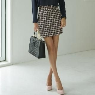 ode' - Patterned Pencil Skirt