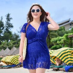Blue Lagoon - Lace Swimdress