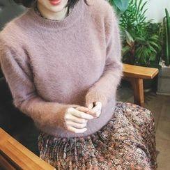 mimi&didi - Crew-Neck Wool Blend Knit Top