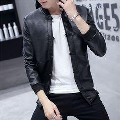 Mitouomo - Faux Leather Jacket