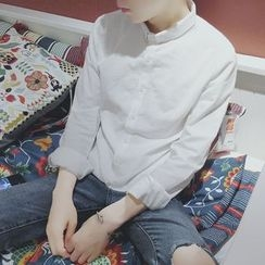 Mitouomo - 純色襯衫