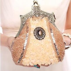 Glam Cham - Sequined Applique Clutch