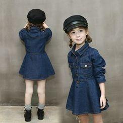 Princess House - Kids Long-Sleeve Denim Dress