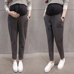 Dadada - Maternity Slim Fit Drawstring Pants