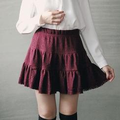 东京著衣 - 通花叠层裙