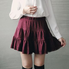 Tokyo Fashion - Perforated Tiered Skirt