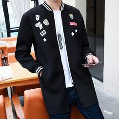 Bay Go Mall - Patch Embroidered Zip Jacket