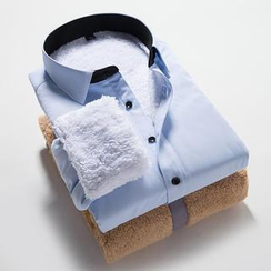 Alvicio - 长袖抓毛内衬衬衫