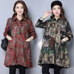 Splashmix - Long-Sleeve Printed Long Blouse