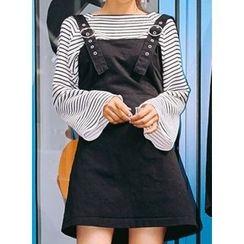 icecream12 - Denim A-Line Mini Jumper Dress