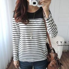 CYNTHIA - Long-Sleeve Striped T-Shirt